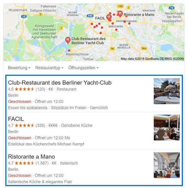 Strukturierte Daten Restaurant